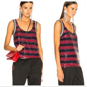 3.1 PHILLIP LIM Stripe Sequin Tank